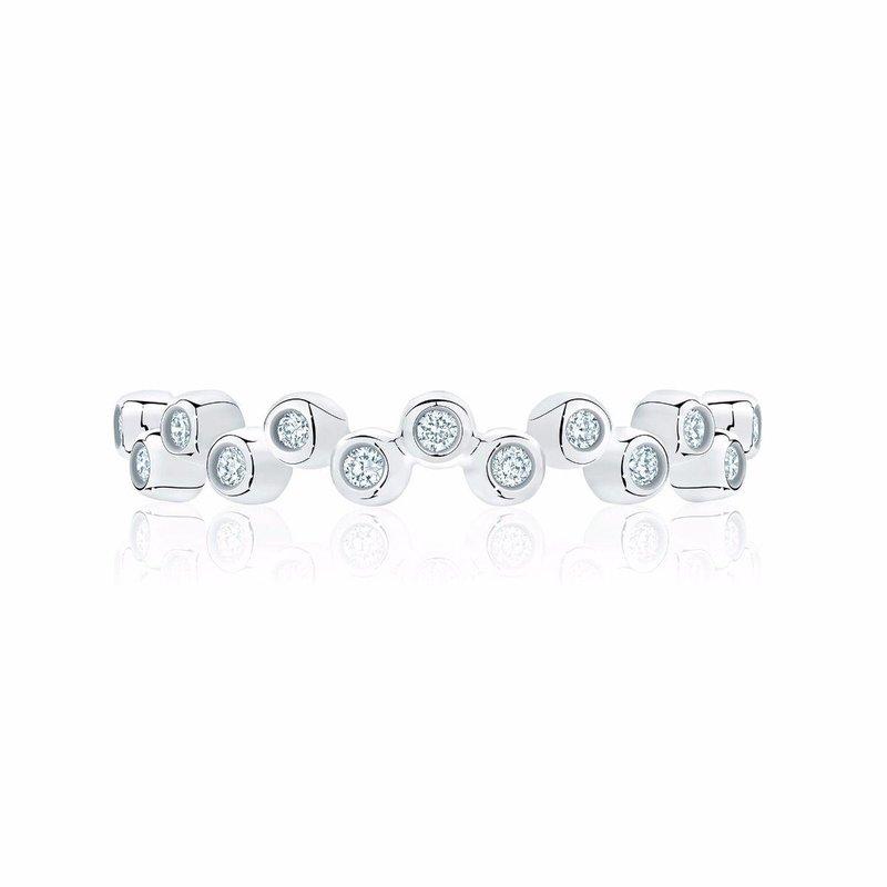 BIRKS Stackable White Gold and Diamond Splash Ring