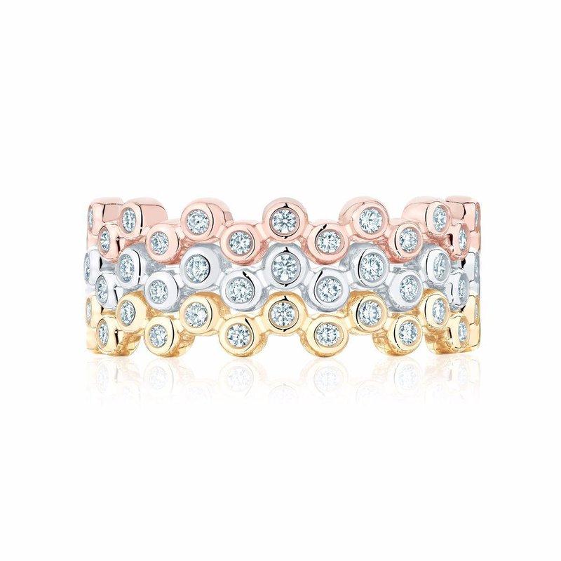 Bijoux Birks BIRKS ICONIC Stackable White Gold and Diamond Splash Ring