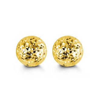 Yellow Gold Ball Studs