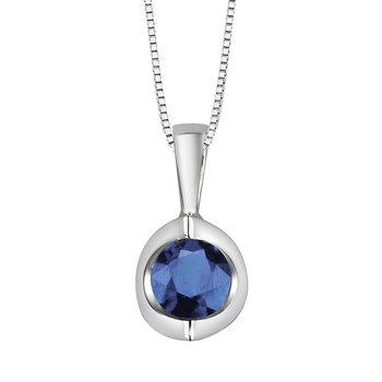 Sapphire Solitaire Pendant