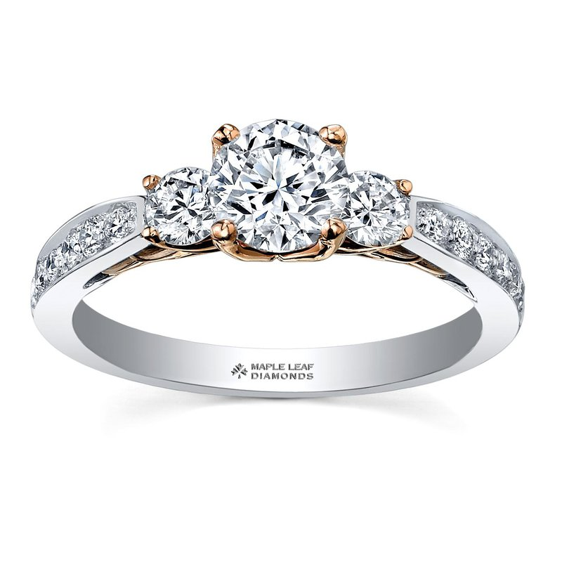 Maple Leaf Diamonds Eternal Flames Engagement Ring
