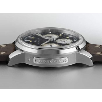 Freedom 60 Chrono Steel Black Dial & Silver Counters Shark Norlando Strap