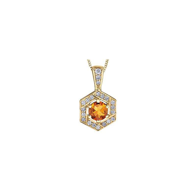 Diamond Days Citrine Pendant