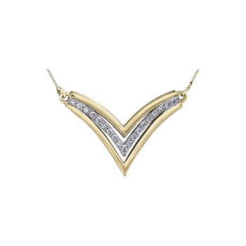 'V' -Shaped Diamond Necklace