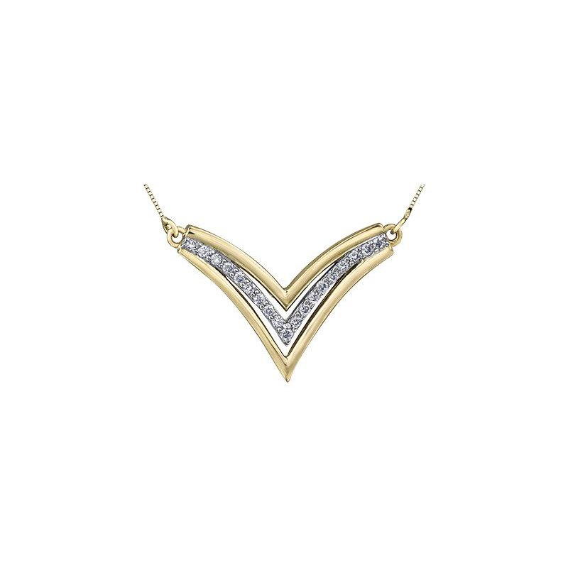 Diamond Days 'V' -Shaped Diamond Necklace
