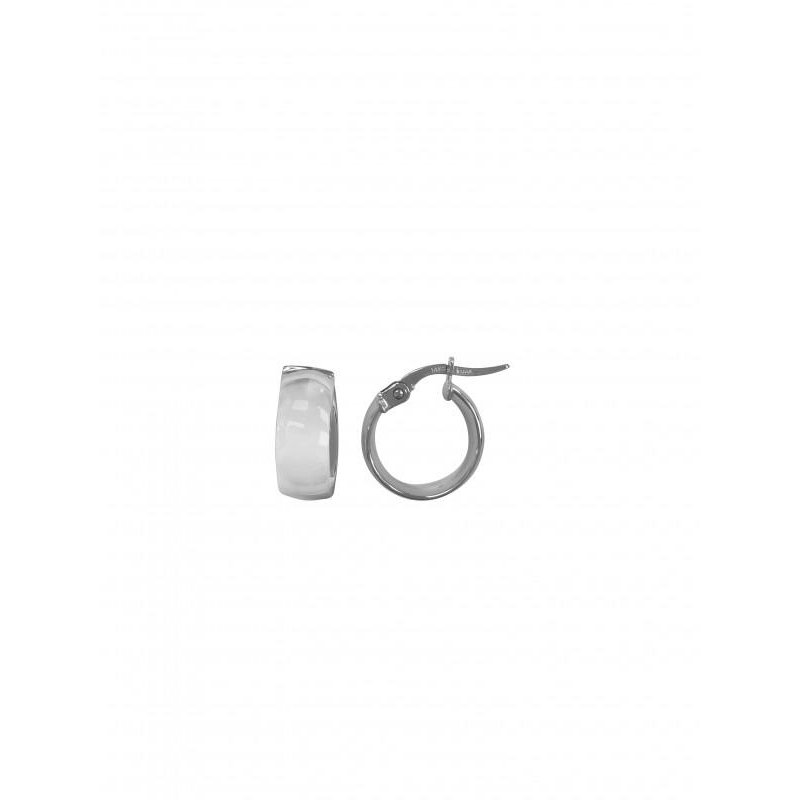 Richardson Signature 14K White Gold Small Dome Hoop