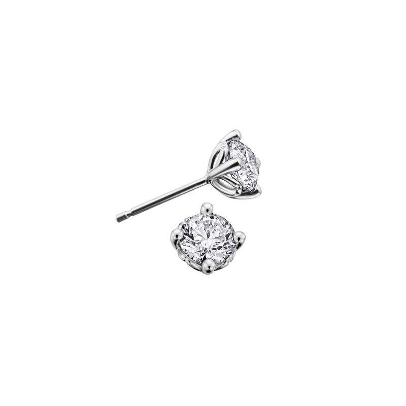 Maple Leaf Diamonds 0.70CTW Canadian Diamond Stud Earrings