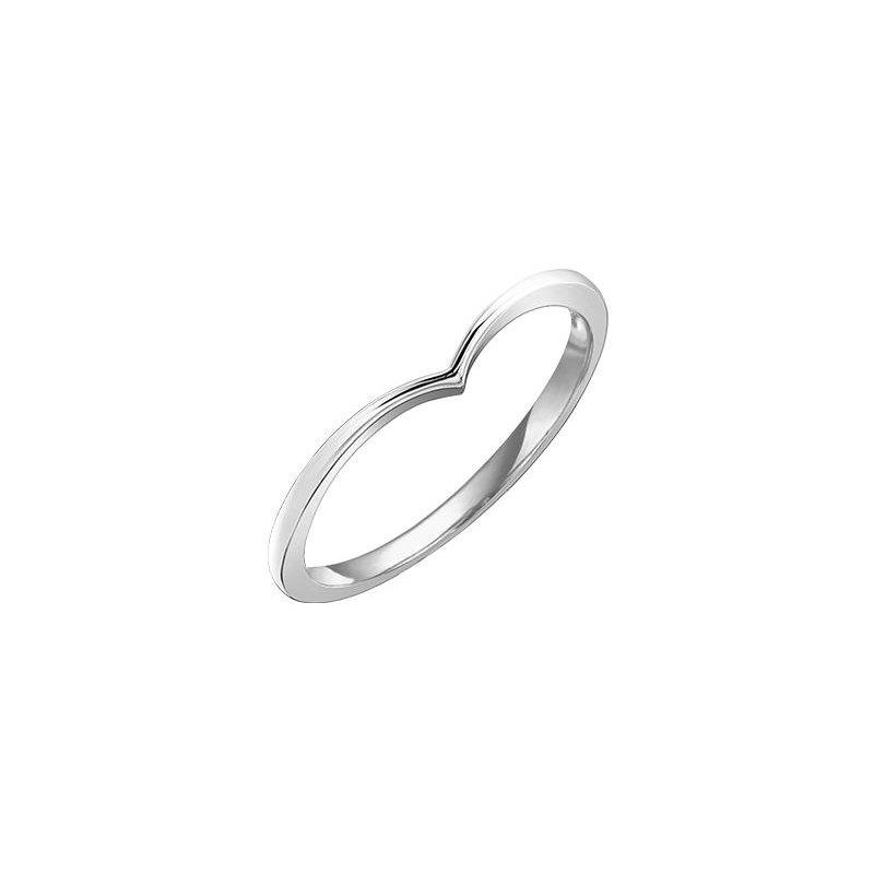 Diamond Days V-Shaped White Gold Ring