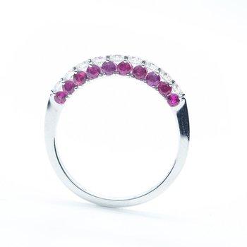 SEAMLESS- Diamond & Ruby Ring