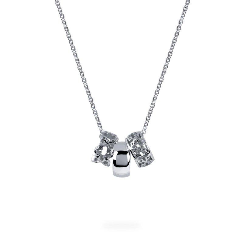 Bijoux Birks BIRKS DARE TO DREAM Three Ring Silver Pendant