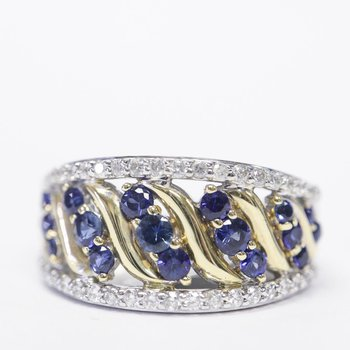 Two-Toned Sapphire Ring