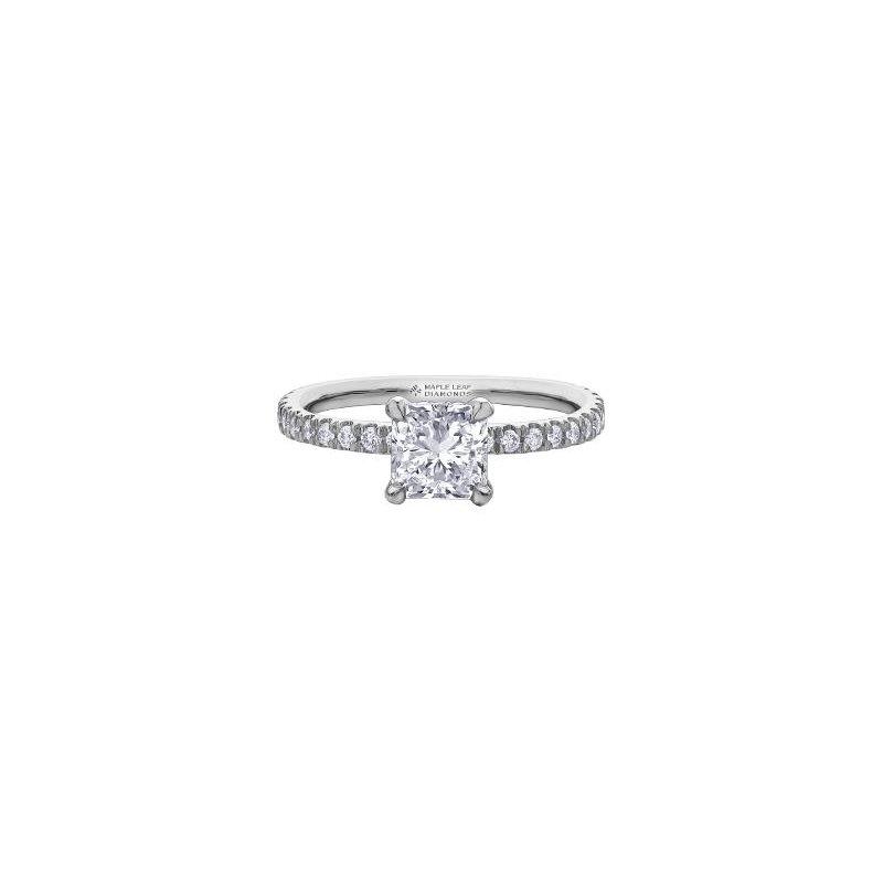 Maple Leaf Diamonds 0.91CT Radiant-Cut Engagement Ring
