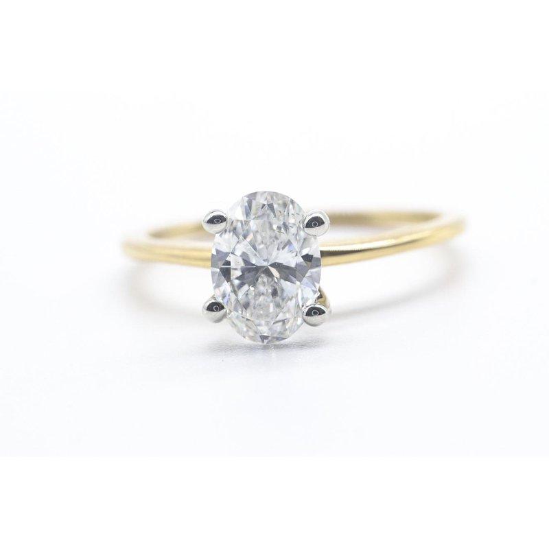 Richardson Signature 0.72CT Oval Diamond Ring
