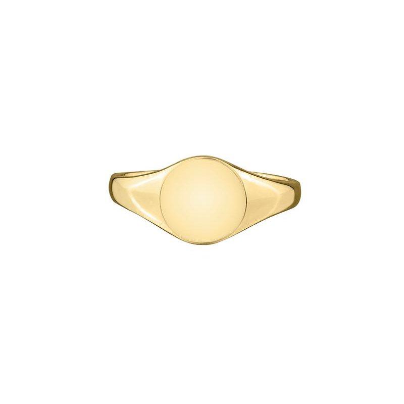 Diamond Days Yellow Gold Signet Ring