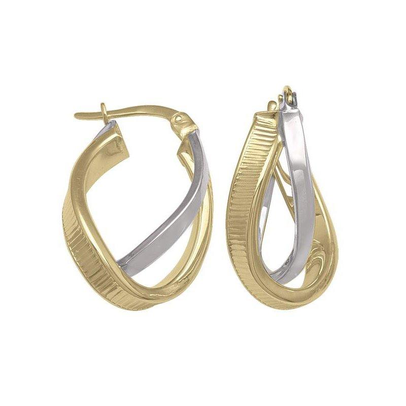 Richardson Signature 14K Twist Hoop Earrings