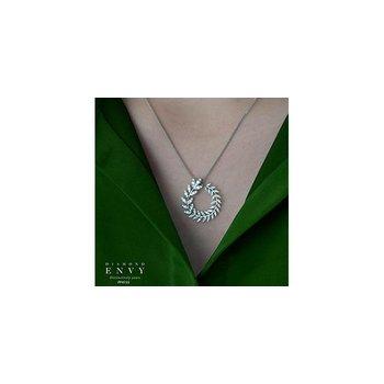Diamond Leaves Pendant