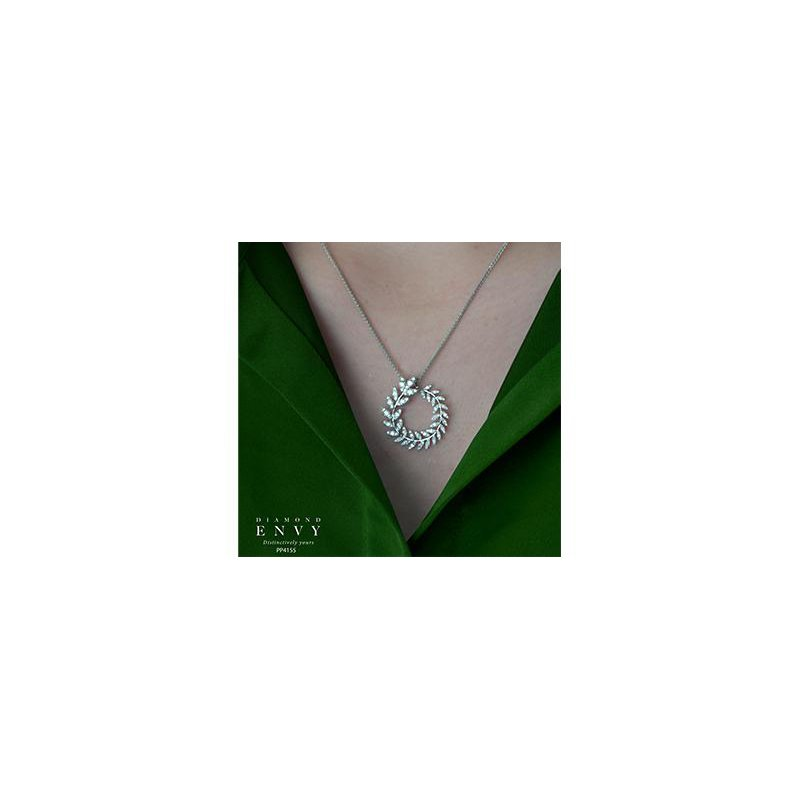 Diamond Days Diamond Leaves Pendant