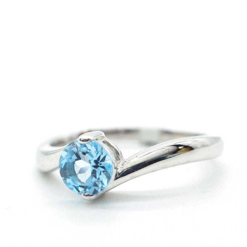 Diamond Days Blue Topaz Ring