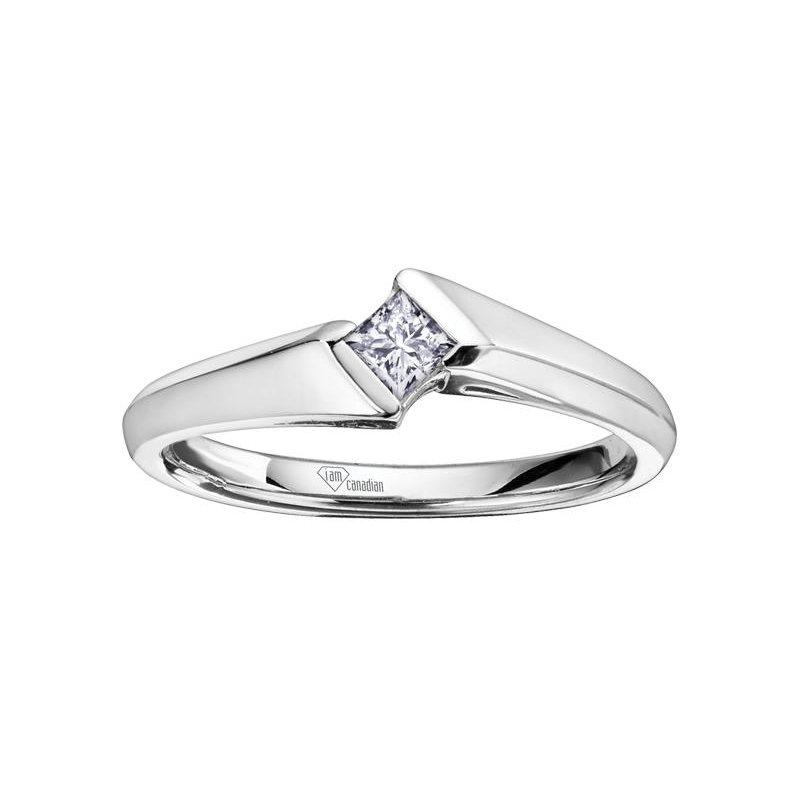 Diamond Days Princess-Cut Diamond Promis Ring