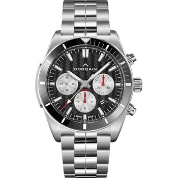 Adventure Sport Chrono Steel Black Ceramic Bezel Black Dial & Silver Counters Steel Bracelet