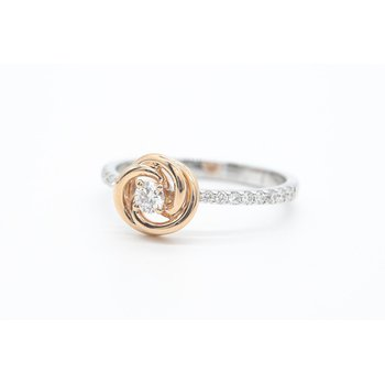 Two-Tone Rose Diamond Ring