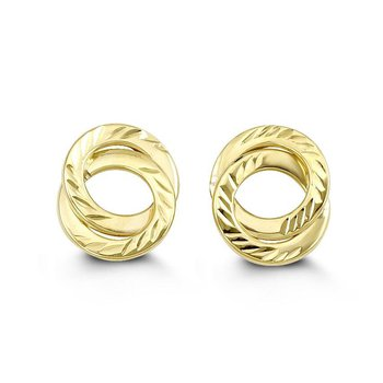 Yellow Gold Circle Studs