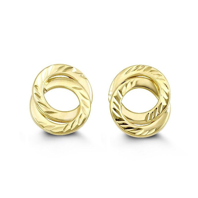 Richardson Signature Yellow Gold Circle Studs