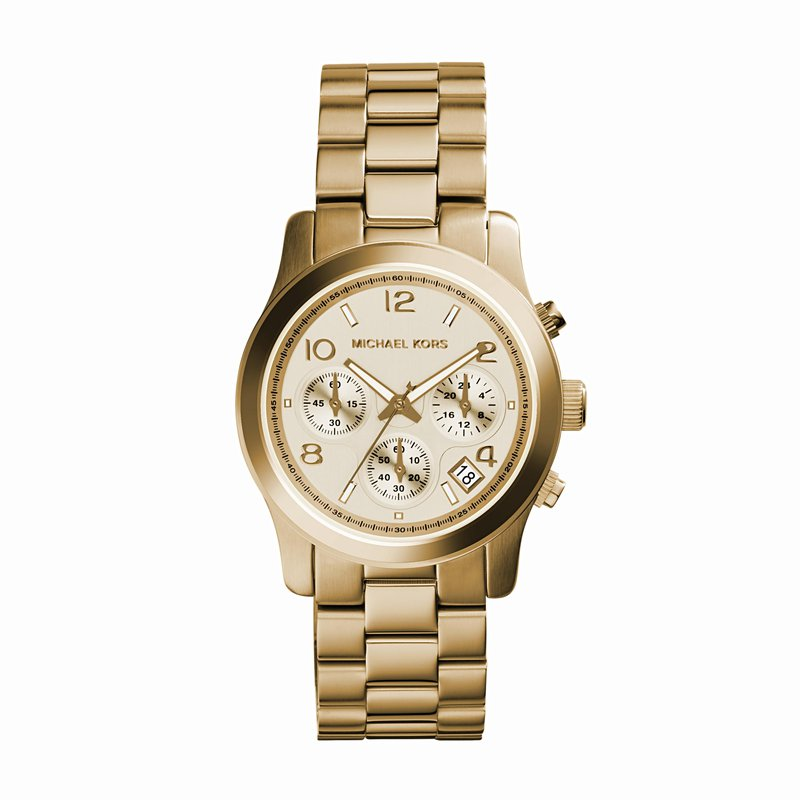 Michael Kors Runway Chronograph Gold-Tone Watch