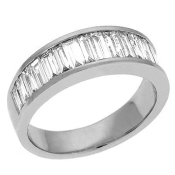 1.52CTW Baguette Diamond Anniversary Band