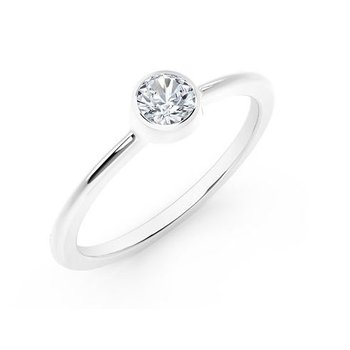 The Forevermark Tribute™ Collection Classic Bezel Stackable Ring