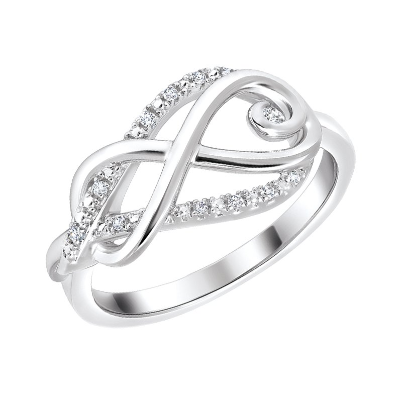 Kux Collection Diamond Infinity Ring