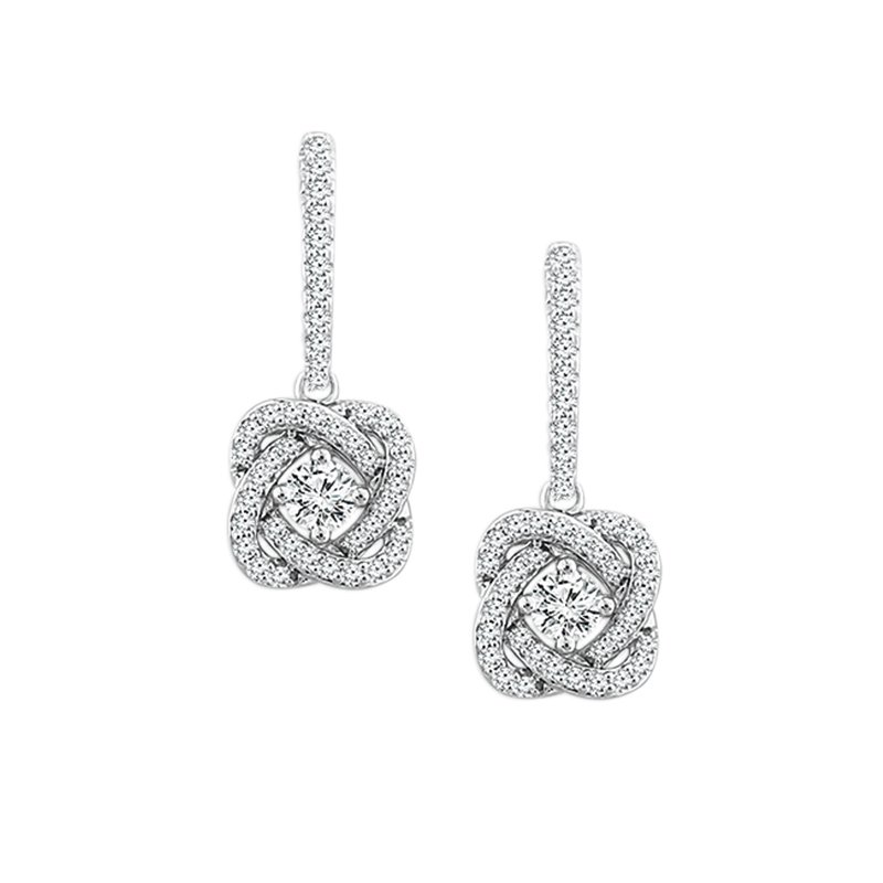 Kux Collection 14k White Gold Fashion Earrings