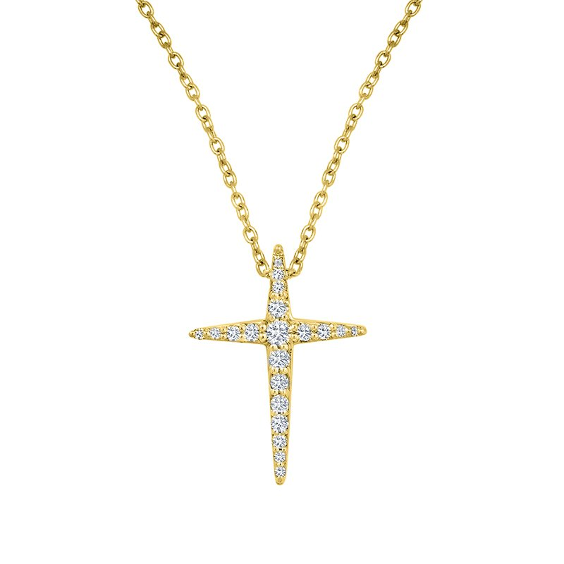 Kux Collection Diamond Cross Pendant