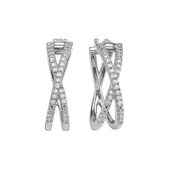 """Diamond """"X"""" Earrings"""