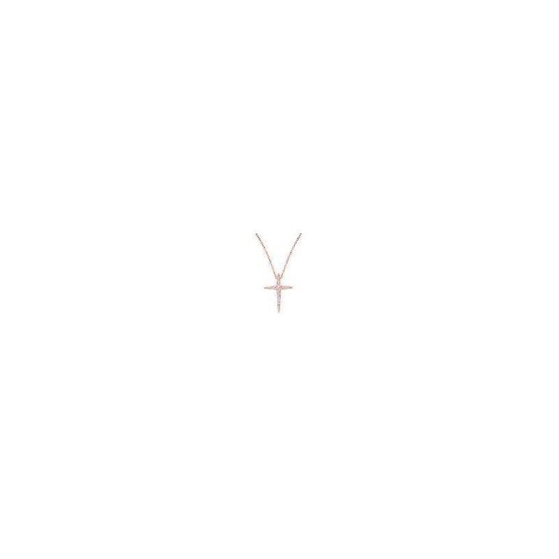 Kux Collection 10K Rose Gold Cross Pendant
