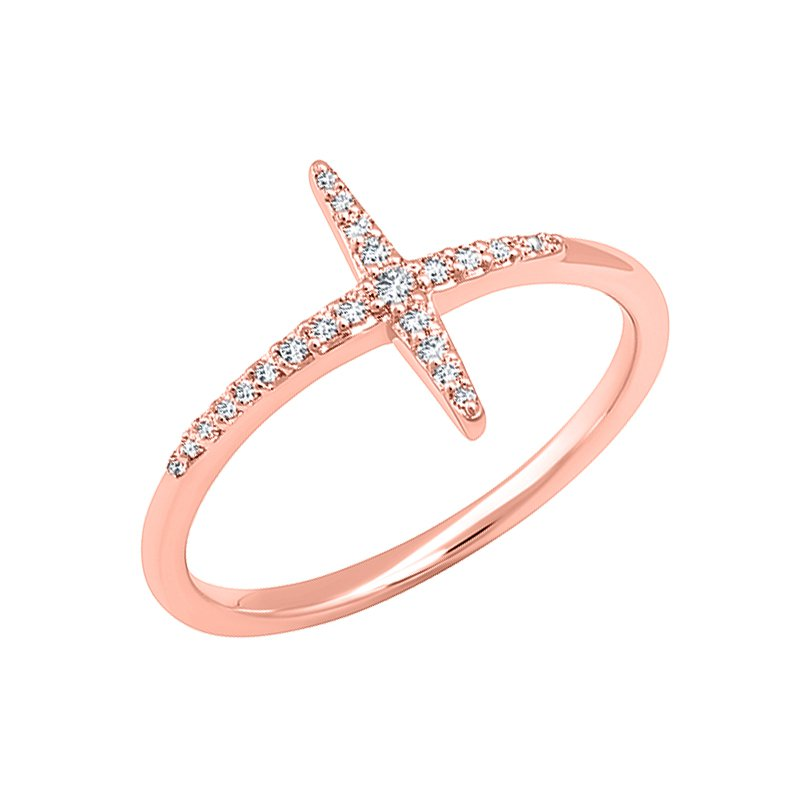 Kux Collection Diamond Cross Ring
