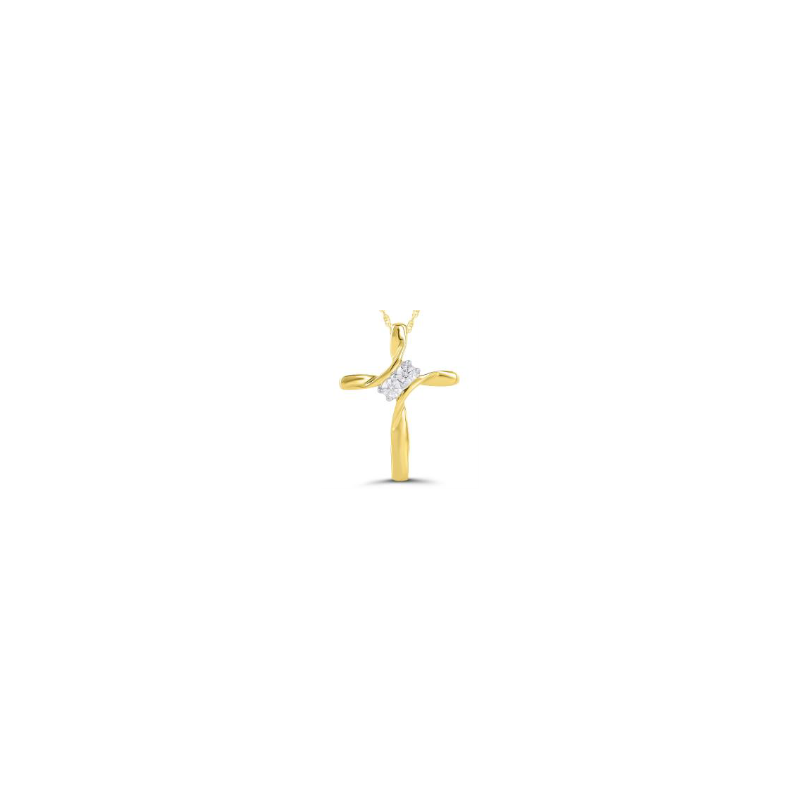 Kux Collection 10K Yellow Gold Cross Necklace