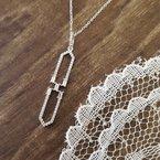 Sami Fine Jewelry Geometric Diamond Necklace
