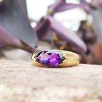 Arizona Amethyst™ Gold Jewelry East-West Amethyst Ring