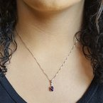 Arizona Amethyst™ Gold Jewelry Must-Have Double Prong 3/4CT Pendant