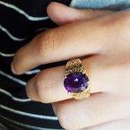 Arizona Amethyst™ Gold Jewelry Vintage Arizona Amethyst Filigree Ring