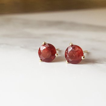 Red Sunstone Martini Studs