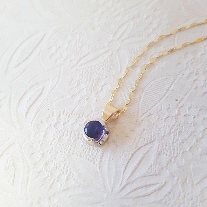 Arizona Amethyst™ Gold Jewelry Amethyst Half Bezel Necklace