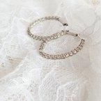 Gems One In-Out Diamond Hoop Earrings in 14K White Gold (2 ct. tw.) I2/I3 - H/K