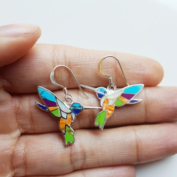 Colorful Hummingbird Earrings