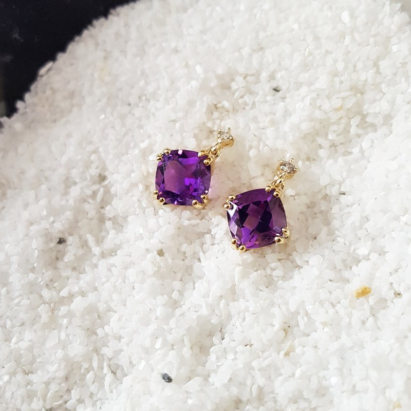 Arizona Amethyst™ Gold Jewelry Must-Have Double Prong 1 1/2CT Earrings