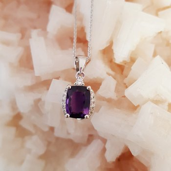 Amethyst Cushion Pendant