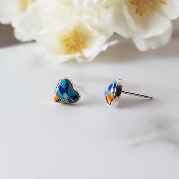 Colors of My Heart Studs
