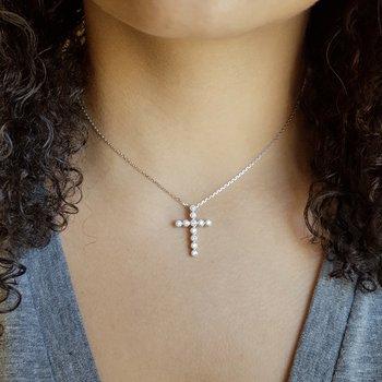 Bezel Cross Necklace