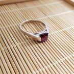 Arizona Amethyst™ Silver Jewelry Four Peaks Princess Ring